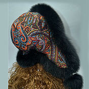 Аксессуары handmade. Livemaster - original item Hat: winter hat with fur. Handmade.