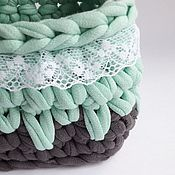 Для дома и интерьера handmade. Livemaster - original item Knitted basket interior. Handmade.