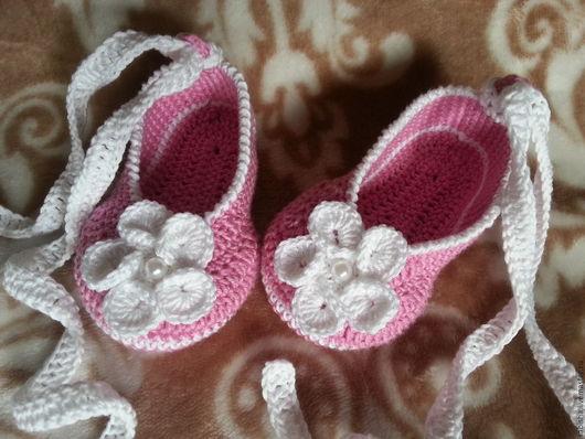 Детская обувь ручной работы. Ярмарка Мастеров - ручная работа. Купить Пинетки Пуанты. Handmade. Пинетки пуанты, пинетки в подарок