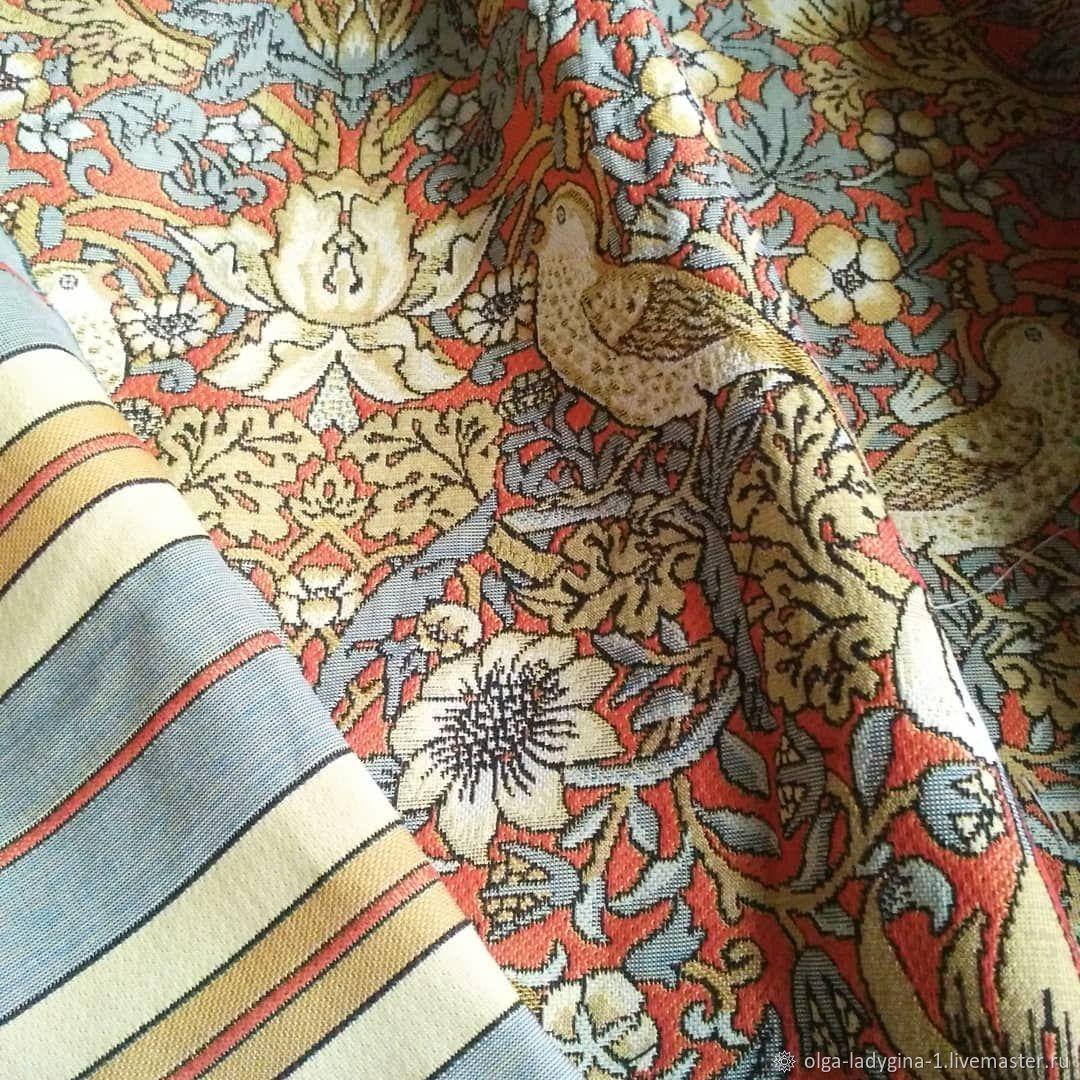 Гобеленовая ткань земляничный воришка Моррис, Ткани, Москва,  Фото №1