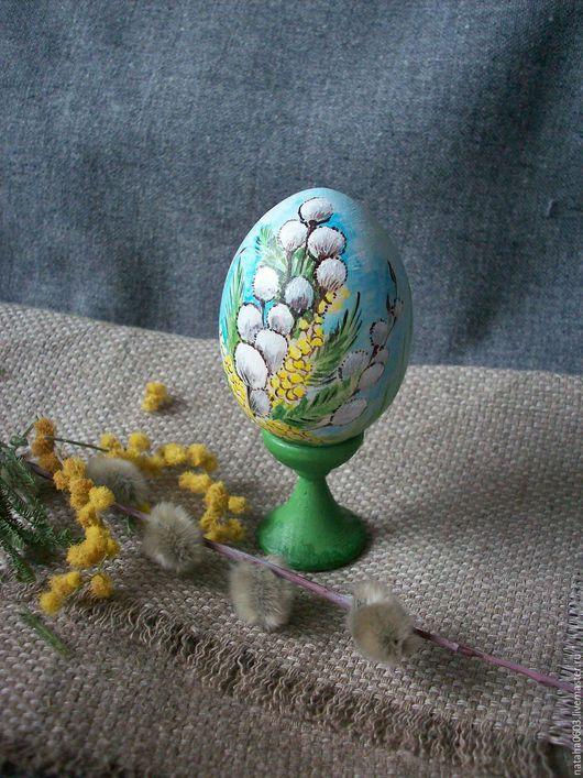 Подарки на Пасху ручной работы. Ярмарка Мастеров - ручная работа. Купить Весенний букетик.....Пасхальное яйцо с росписью.. Handmade.