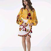 Одежда handmade. Livemaster - original item Skirt and blouse with embroidery. Handmade.