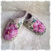 """Обувь ручной работы. Ярмарка Мастеров - ручная работа Валяные тапочки """"Мальва"""". Handmade."""