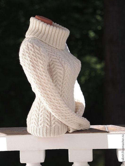 """Кофты и свитера ручной работы. Ярмарка Мастеров - ручная работа. Купить Свитер """"Комфортный"""". Handmade. Белый, белый пуловер"""