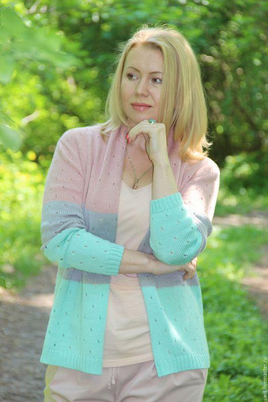 """Пиджаки, жакеты ручной работы. Ярмарка Мастеров - ручная работа. Купить Кардиган """"Летняя пастель"""". Handmade. Комбинированный, пастельные цвета"""