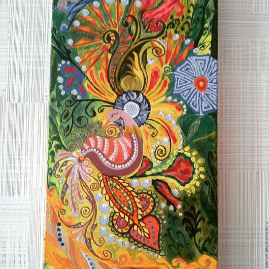 """Фэнтези ручной работы. Ярмарка Мастеров - ручная работа. Купить Картина """"Перо Жар-Птицы"""". Handmade. Картина, картина акрилом"""