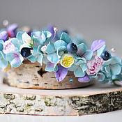 Украшения ручной работы. Ярмарка Мастеров - ручная работа Венок с цветами. Handmade.