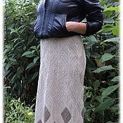 """Одежда ручной работы. Ярмарка Мастеров - ручная работа юбка """"Чистый лён"""". Handmade."""