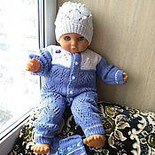 Работы для детей, handmade. Livemaster - original item Summer jumpsuit beanie for boy 68/74. Handmade.