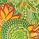 `Пока цветет папоротник` тарелка керамическая декоративная настенная с папоротником (ручная точечная и витражная роспись)