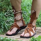 Обувь ручной работы handmade. Livemaster - original item sandals unisex suede.. Handmade.