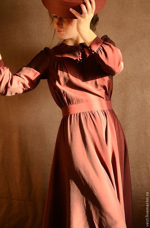 """Платья ручной работы. Ярмарка Мастеров - ручная работа. Купить Платье """"Из бабушкиного сундука"""". Handmade. Бордовый, сундук, бордо"""