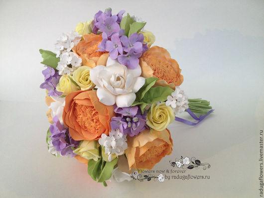 Свадебные цветы ручной работы. Ярмарка Мастеров - ручная работа. Купить Букет невесты, свадебный букет из полимерной глины  Весенняя сказка. Handmade.
