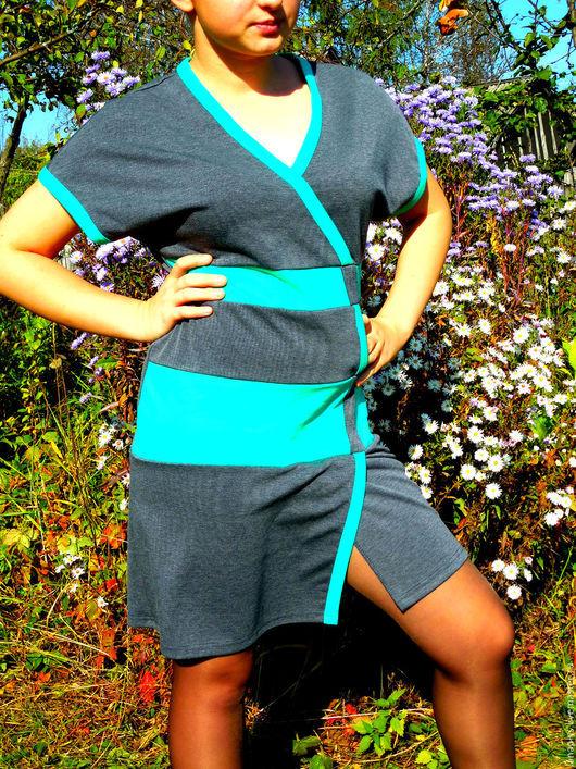 """Платья ручной работы. Ярмарка Мастеров - ручная работа. Купить Платье женское """"Ассиметрия"""". Handmade. Разноцветный, для женщины, авторская работа"""