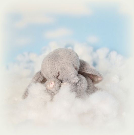 Мишки Тедди ручной работы. Ярмарка Мастеров - ручная работа. Купить Сплюша СЛОНышко (8 см). Handmade. Серый, нежность