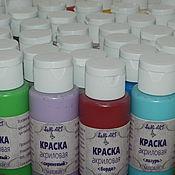 Материалы для творчества handmade. Livemaster - original item Acrylic paint MATTE (in stock). Handmade.