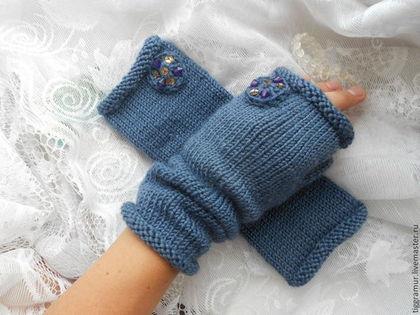 Варежки, митенки, перчатки ручной работы. Ярмарка Мастеров - ручная работа митенки