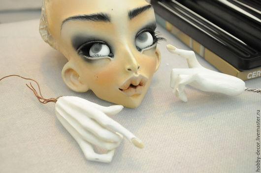 Как сделать голову для куклы из полимерной глины