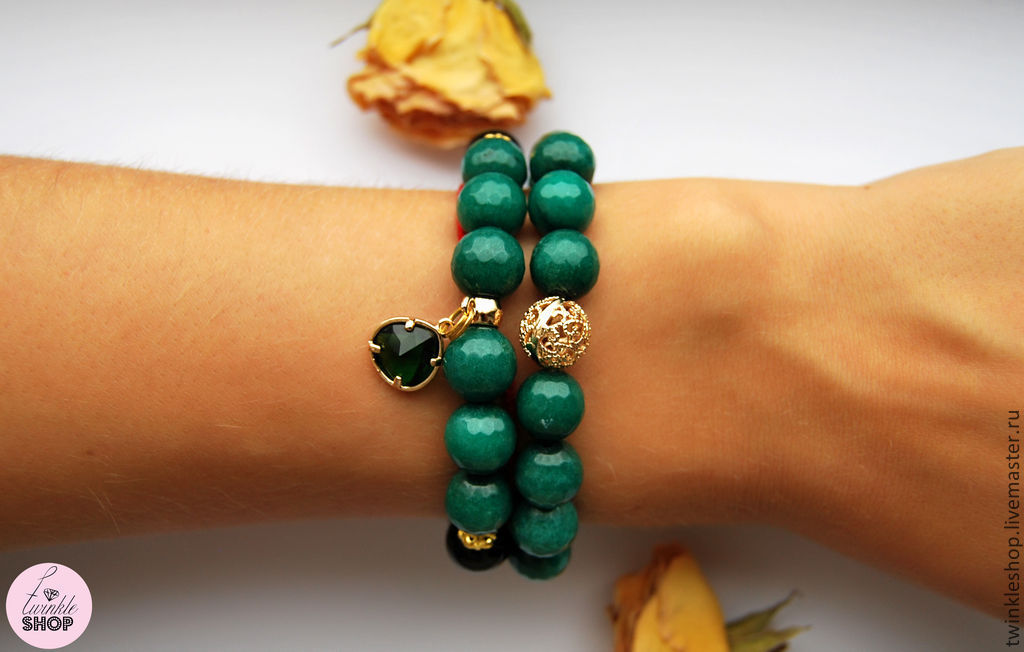A bright set of bracelets with green agate, Bracelet set, Moscow,  Фото №1