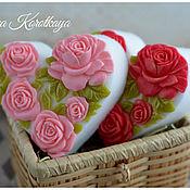 """Мыло ручной работы. Ярмарка Мастеров - ручная работа """"Сердечко 5 роз"""" Мыло ручной работы. Handmade."""