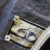 Одежда ручной работы. Ярмарка Мастеров - ручная работа летний легкий воздушный женский пиджак бохо. Handmade.