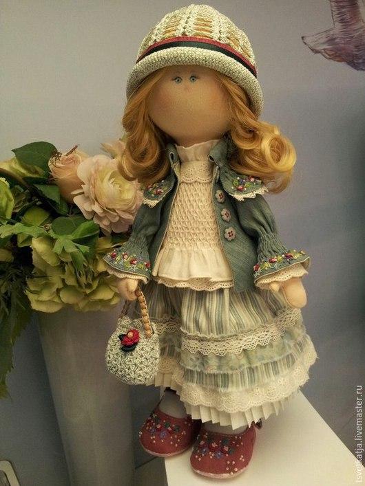 Коллекционные куклы ручной работы. Ярмарка Мастеров - ручная работа. Купить Интерьерная кукла Маруся. Handmade. Текстильная кукла