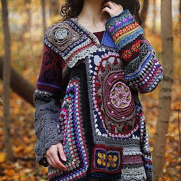 Одежда ручной работы. Ярмарка Мастеров - ручная работа Свитер в стиле patchwork Бабушкин квадрат. Handmade.