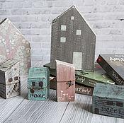 Для дома и интерьера handmade. Livemaster - original item Just houses. decoupage. Handmade.