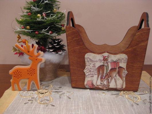 """Корзины, коробы ручной работы. Ярмарка Мастеров - ручная работа. Купить Короб для сладостей """" Рождественский коллейдоскоп"""". Handmade. Свечи"""