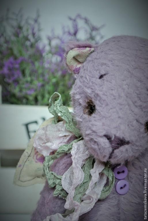"""Мишки Тедди ручной работы. Ярмарка Мастеров - ручная работа. Купить Мишка """"...этюд в пастельных тонах"""". Handmade. Сиреневый"""