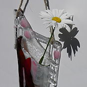 Вазы ручной работы. Ярмарка Мастеров - ручная работа фьюзинг. ваза настенная из цветного стекла.. Handmade.