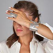 Украшения handmade. Livemaster - original item Handmade silver-plated bracelet and ring. Handmade.