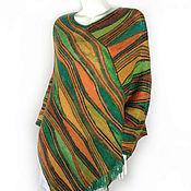 """Одежда ручной работы. Ярмарка Мастеров - ручная работа пончо """"Зеленый шум"""". Handmade."""