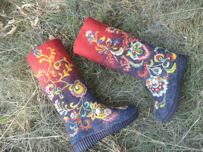 Валенки Хохлома 2, Обувь, Днепр, Фото №1