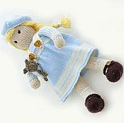 Материалы для творчества ручной работы. Ярмарка Мастеров - ручная работа Кукла вязаная. Мастер класс кукла Сашенька. Handmade.