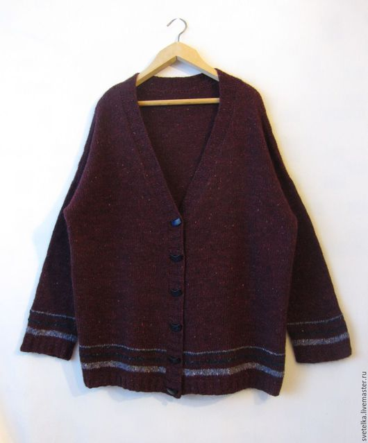 Кофты и свитера ручной работы. Ярмарка Мастеров - ручная работа. Купить кардиган вязаный большого размера.(56-60). Handmade.