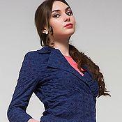 Одежда ручной работы. Ярмарка Мастеров - ручная работа 237: летний пиджак женский, офисный пиджак на лето, пиджак из хлопка. Handmade.