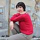 Кофты и свитера ручной работы. Заказать Нежный малиновый пуловер из альпаки на шелке. Вербицкая Екатерина (keva). Ярмарка Мастеров. Малиновый