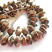 Материалы для творчества handmade. Livemaster - original item Beads huggers cut olive shell. Handmade.