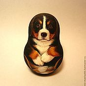 Русский стиль handmade. Livemaster - original item The roly-poly puppy of Bernese mountain dog (with a ring). Handmade.