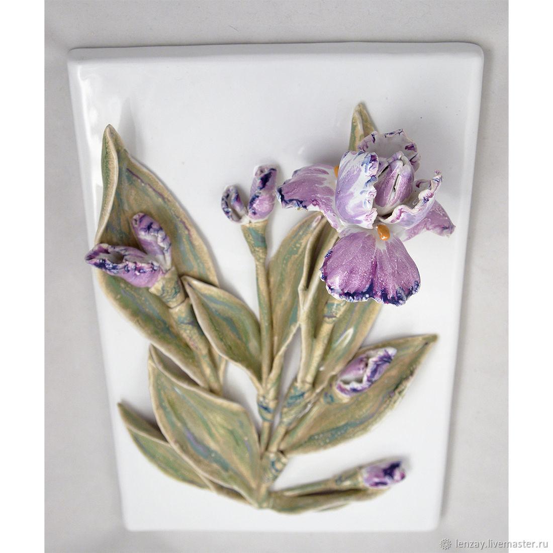 Irises - ceramic tile tiles / panels, Tile, Moscow,  Фото №1