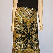 Одежда handmade. Livemaster - original item The floor-length skirt of pavlovoposadskaja shawl