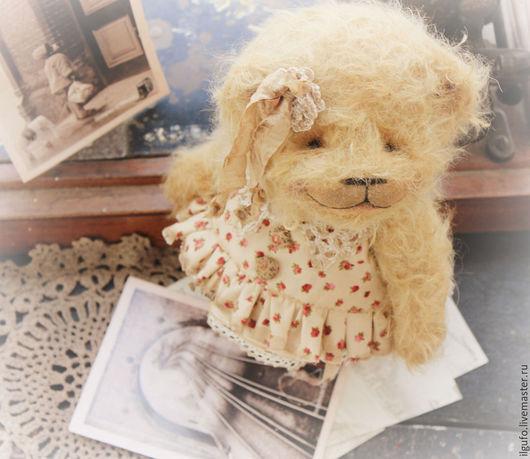 Мишки Тедди ручной работы. Ярмарка Мастеров - ручная работа. Купить Лея. авторский мишка тедди. Handmade. Бежевый