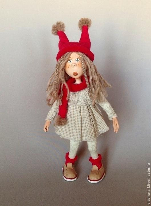 Человечки ручной работы. Ярмарка Мастеров - ручная работа. Купить Авторская кукла из полимерной глины Марта. РЕЗЕРВ. Handmade. Бежевый