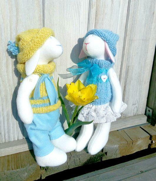 """Куклы Тильды ручной работы. Ярмарка Мастеров - ручная работа. Купить Текстильные куклы """"Овечки"""". Handmade. Белый, тильда овечка"""