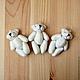 Куклы и игрушки ручной работы. Ярмарка Мастеров - ручная работа. Купить 0145 Мини мишка для кукол 6см аксессуар для фотосессий. Handmade.