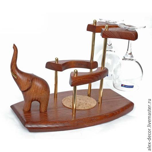 Подарки для мужчин, ручной работы. Ярмарка Мастеров - ручная работа. Купить Мини-бар винный Elephant. Handmade. Коричневый