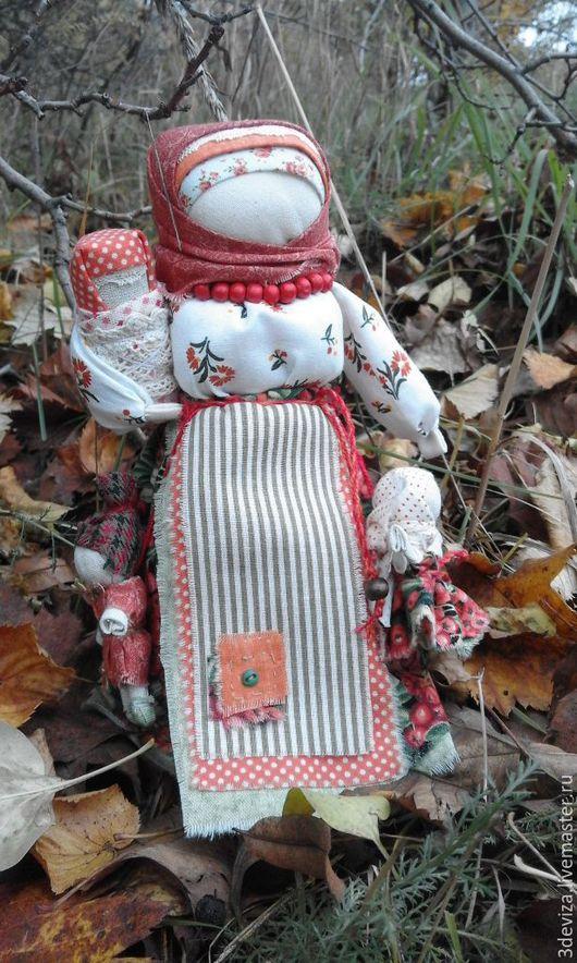 Народные куклы ручной работы. Ярмарка Мастеров - ручная работа. Купить Рябинка. Интерьерная народная кукла.. Handmade. Оранжевый