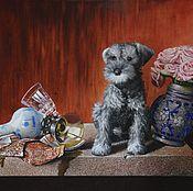 Картины и панно ручной работы. Ярмарка Мастеров - ручная работа натюрморт с собакой. Handmade.
