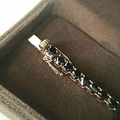 Украшения handmade. Livemaster - original item Gold bracelet with black diamonds buy. Handmade.